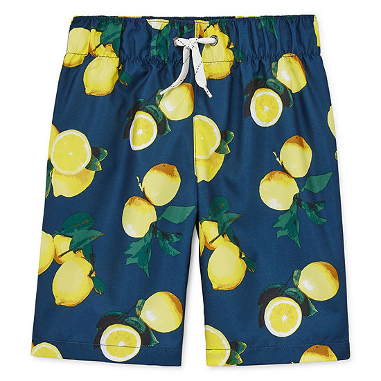 City Streets Boys Swim Trunks-Big Kid-Husky