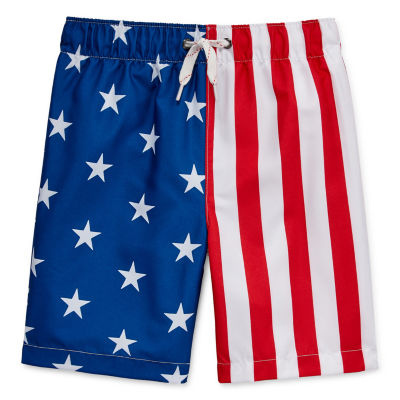City Streets Little & Big Boys Swim Trunks