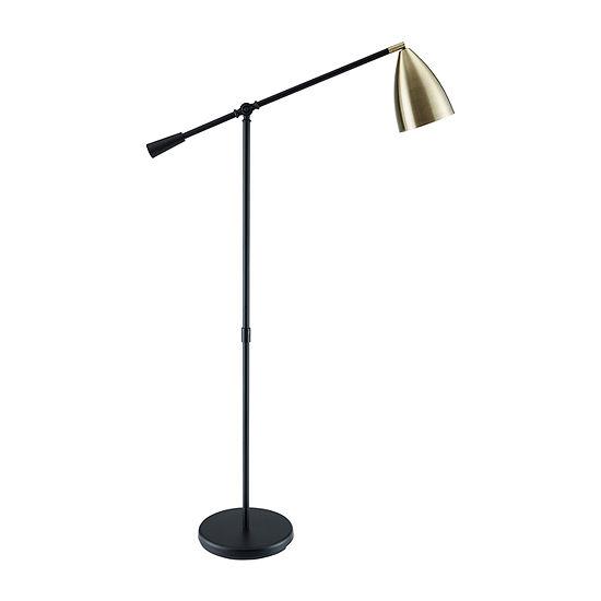 Southern Enterprises Elri Pendant Metal Floor Lamp