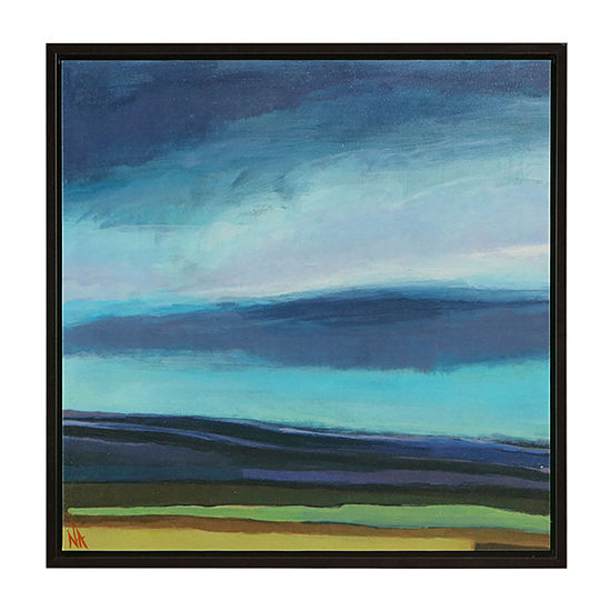 Madison Park Evening Sky Gel Coat Framed Canvas