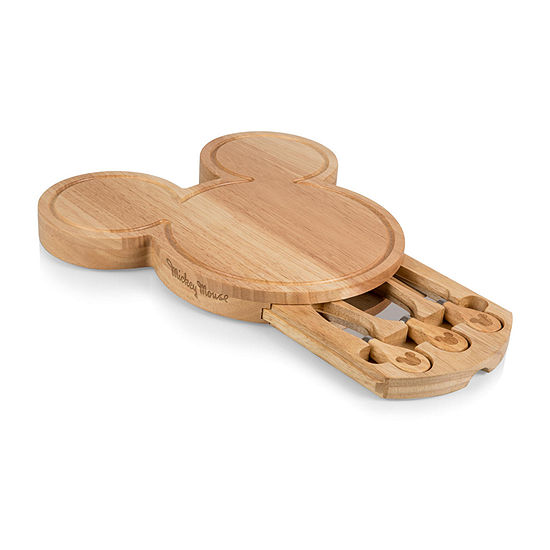 Picnic Time Mickey Shaped Cheese Board 4-pc. Cheese Board Set