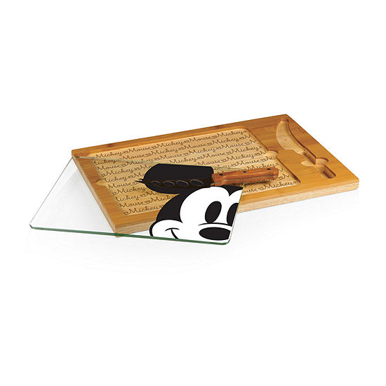 Picnic Time Icon Mickey Button Eye 3 Pc Cheese Board Set