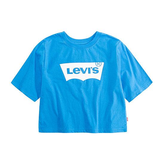 Levis Girls Crew Neck Short Sleeve Graphic T Shirt Big Kid