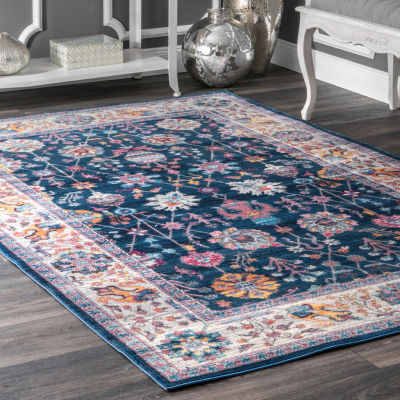 nuLoom Classic Tinted Floral Rectangular Rug