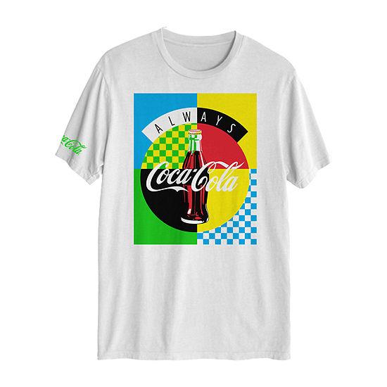 Coke Mens Crew Neck Short Sleeve Graphic T-Shirt