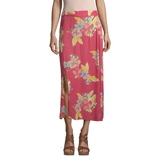 Ana Womens Mid Rise Maxi Skirt