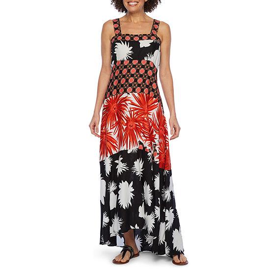 MSK Sleeveless Floral Maxi Dress