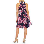 S. L. Fashions Sleeveless Floral Swing Dresses
