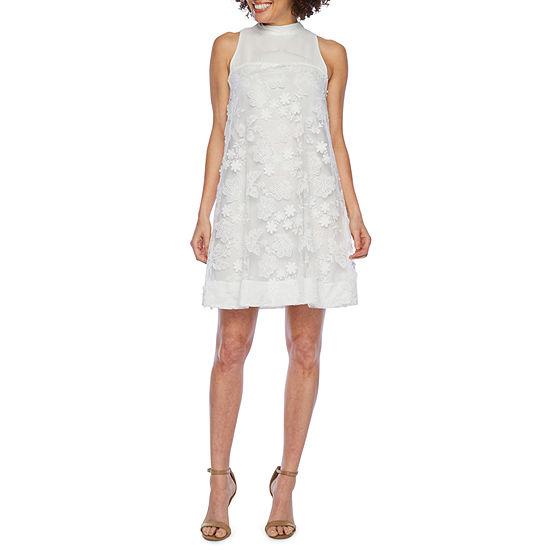 Robbie Bee Sleeveless Embellished Swing Dresses