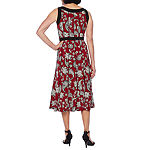 Perceptions Sleeveless Paisley Midi Fit & Flare Dress