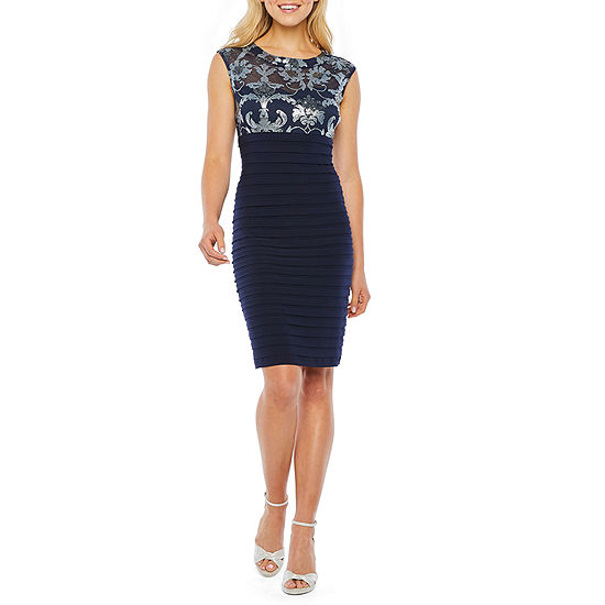 Scarlett Sleeveless Sequin Top Sheath Dress