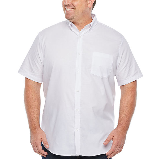 The Foundry Big & Tall Supply Co. Mens Short Sleeve Button-Down Shirt