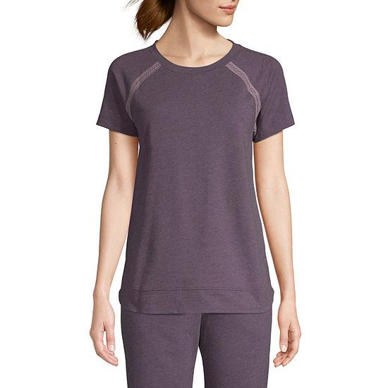 St Johns Bay Active Womens Round Neck Short Sleeve T Shirt