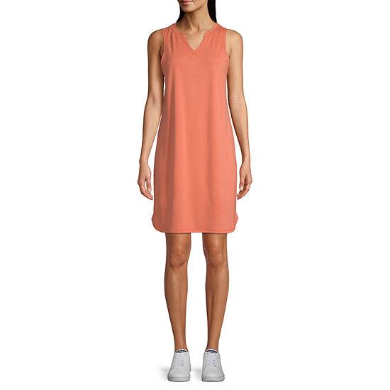 St. John's Bay Active Sleeveless T-Shirt Dresses