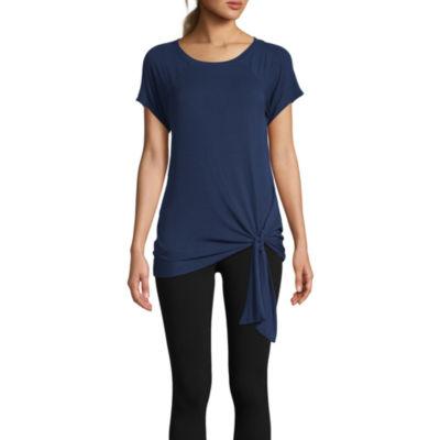 St. John's Bay Active-Womens Round Neck Short Sleeve T-Shirt