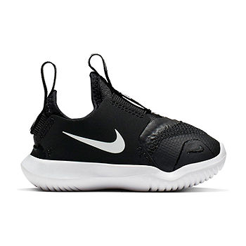 Nike Flex Runner Toddler Boys Sneakers Pull-on, Color: Blk-white - JCPenney