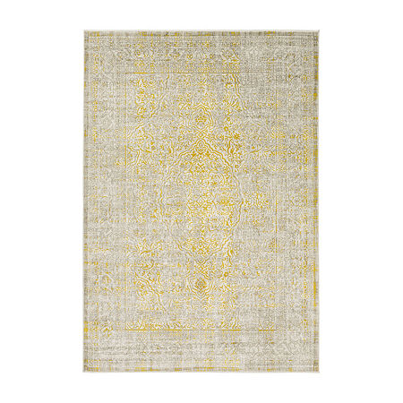 Decor 140 Jilkso Rectangular Indoor Rugs, One Size , Yellow