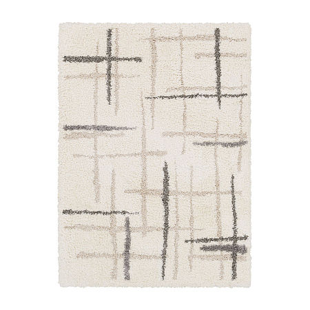 Decor 140 Kaiden Rectangular Indoor Rugs, One Size , White