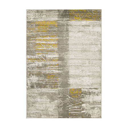 Decor 140 Matko Rectangular Indoor Rugs, One Size , Yellow