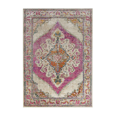Decor 140 Ladeen Rectangular Indoor Rugs, One Size , Pink