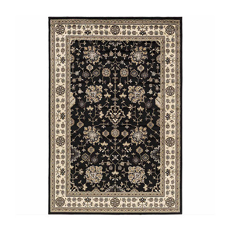 Decor 140 Vladovsk Rectangular Indoor Rugs, One Size , Black