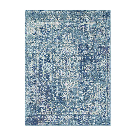Decor 140 Trafalgar Rectangular Indoor Rugs, One Size , Blue