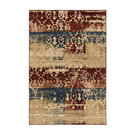 Decor 140 Pearland Rectangular Indoor Rugs, One Size , Red