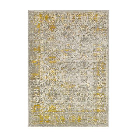 Decor 140 Olin Rectangular Indoor Rugs, One Size , Yellow