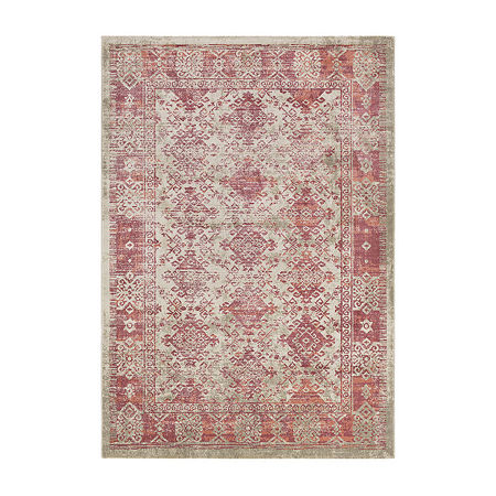 Decor 140 Olin Rectangular Indoor Rugs, One Size , Red