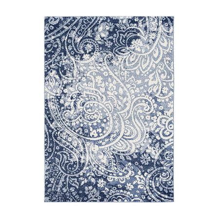 Decor 140 Orlomin Rectangular Indoor Rugs, One Size , Blue
