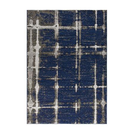 Decor 140 Orrasi Rectangular Indoor Rugs, One Size , Blue