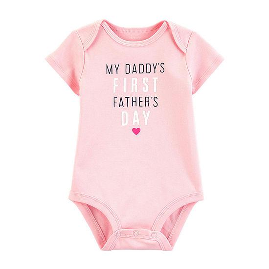 Carter's Father'S Day Slogan Girls Bodysuit-Baby