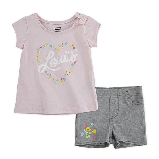 Levi's Girls 2-pc. Short Set Baby