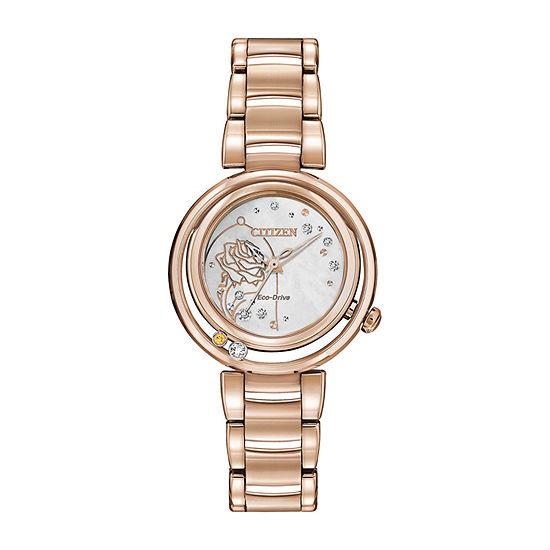 Citizen Belle Diamond Beauty and the Beast Womens Rose Goldtone Stainless Steel Bracelet Watch - Em0823-58d