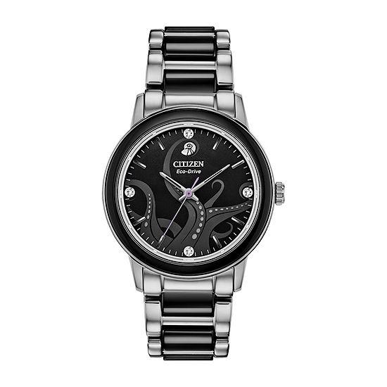 Citizen Diamond Womens Silver Tone Stainless Steel Bracelet Watch - Em0748-51w