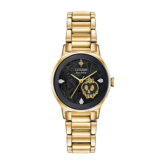 Citizen Diamond Womens Gold Tone Stainless Steel Bracelet Watch - Em0739-52w