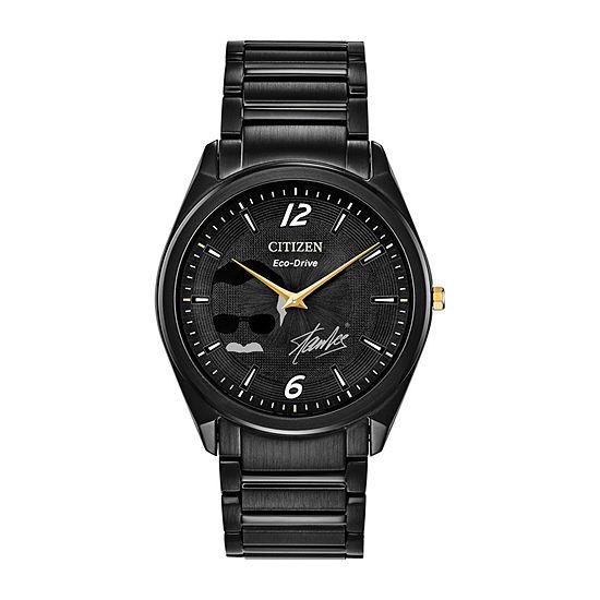 Citizen Stan Lee Le Marvel Mens Black Stainless Steel Bracelet Watch - Ar3077-56w