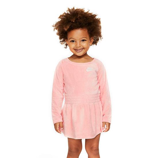 Nike Toddler Girls Long Sleeve Logo A-Line Dress