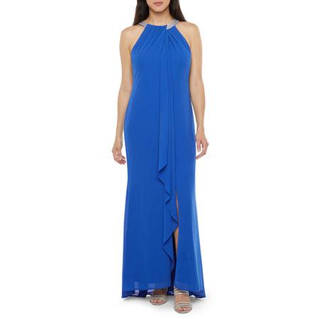70s Prom, Formal, Evening, Party Dresses R  M Richards Sleeveless Embellished Evening Gown 6  Blue $67.19 AT vintagedancer.com