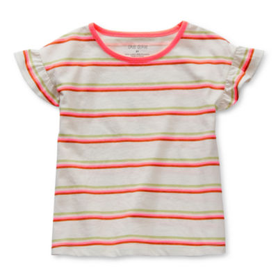 Okie Dokie Toddler Girls Round Neck Short Sleeve T-Shirt