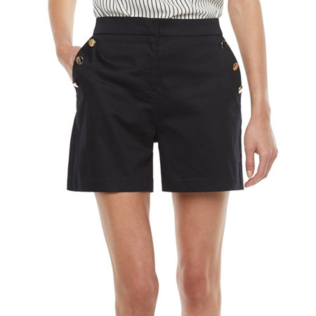 1930s Wide Leg Pants and Beach Pajamas Worthington Womens Sailor Short 10  Black $16.49 AT vintagedancer.com