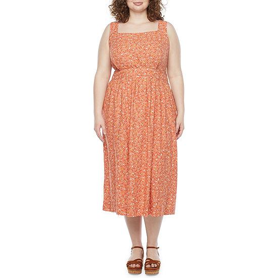 a.n.a-Plus Sleeveless Midi Sheath Dress