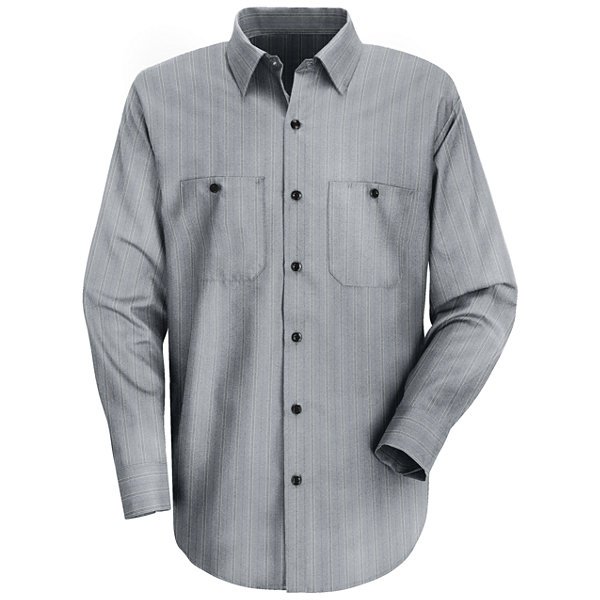 Red Kap® SP10 Micro-Check Uniform Shirt–Big & Tall