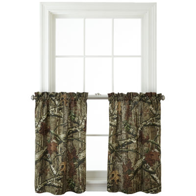 Mossy Oak® Break Up Infinity 2-Pack Rod-Pocket Camo Window Tiers