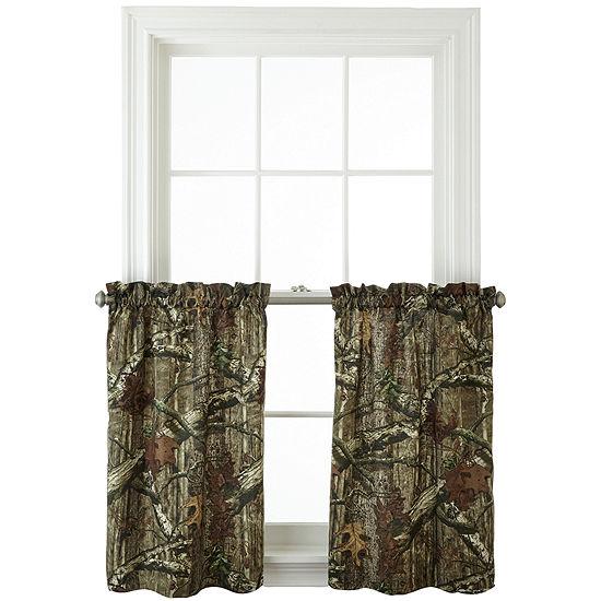 Mossy Oak® Break Up Infinity 2-Pack Rod-Pocket Camo Window Tiers
