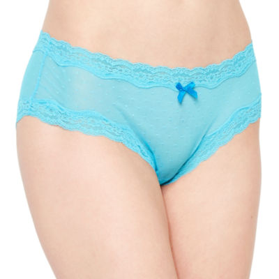 Ambrielle® Point D'Esprit Hipster Panties
