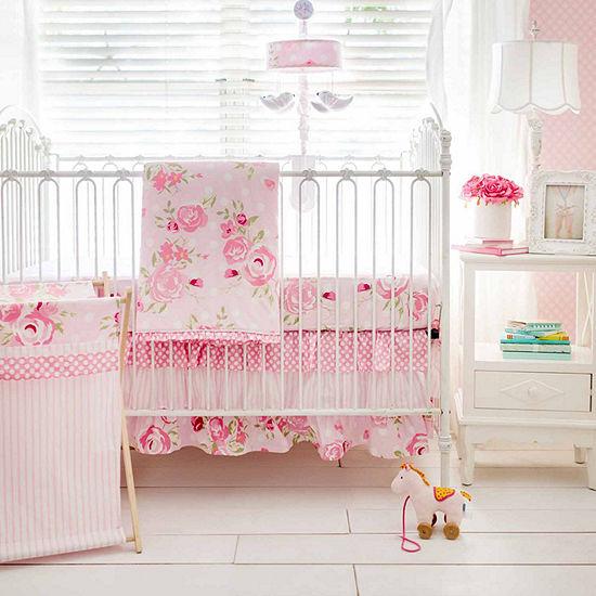 My Baby Sam Rosebud Lane 3 Pc Crib Bedding Set