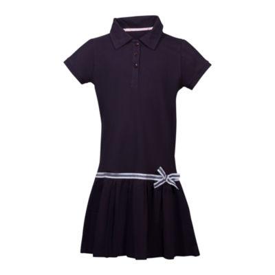 U.S. Polo Assn. Short Sleeve Cap Sleeve Shirt Dress - Preschool Girls 4-6x