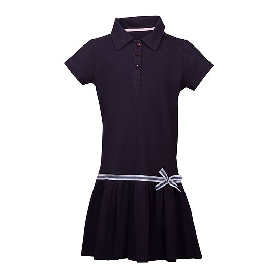 U.S. Polo Assn. Short Sleeve Cap Sleeve Shirt Dress - Preschool Girls 4-6x