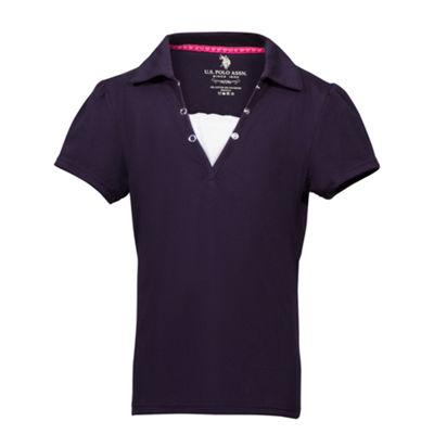 U.S. Polo Assn.® . Short Sleeve Polo - Preschool Girls 4-6x